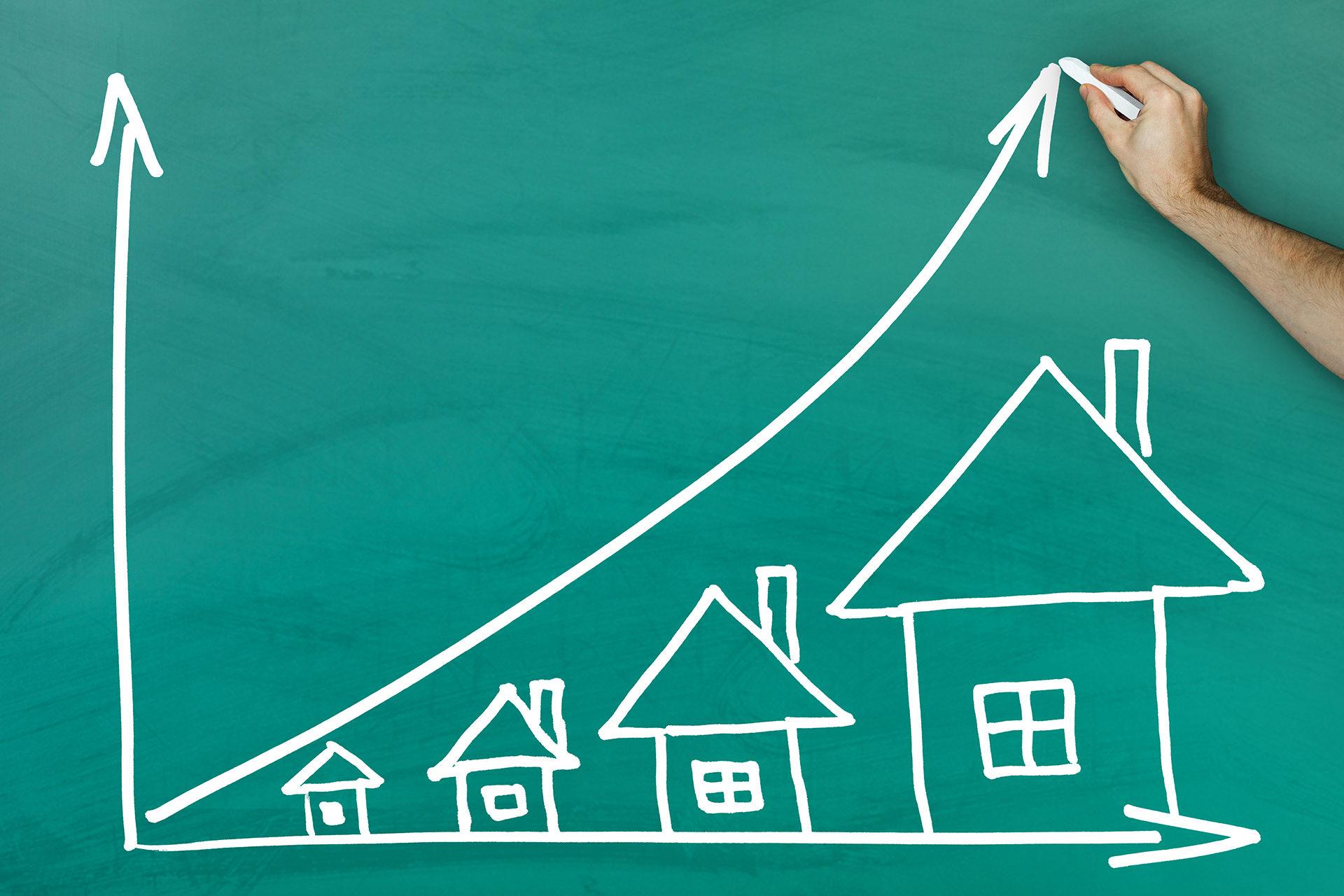 gráfico com tamanho de casas em ordem crescente