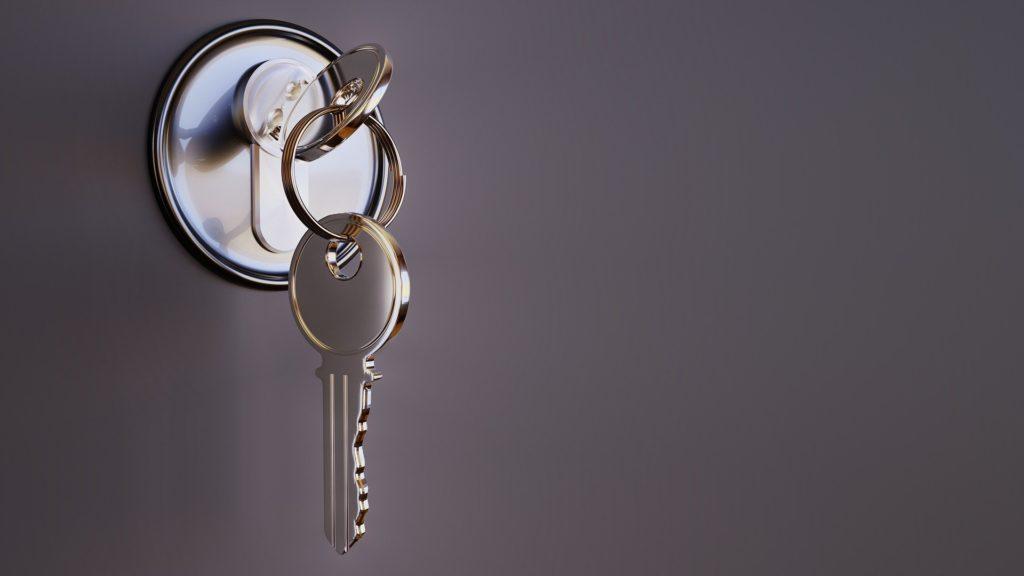 chave em uma fechadura